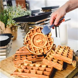 Freshly Baked Waffles in Sheraton Catering